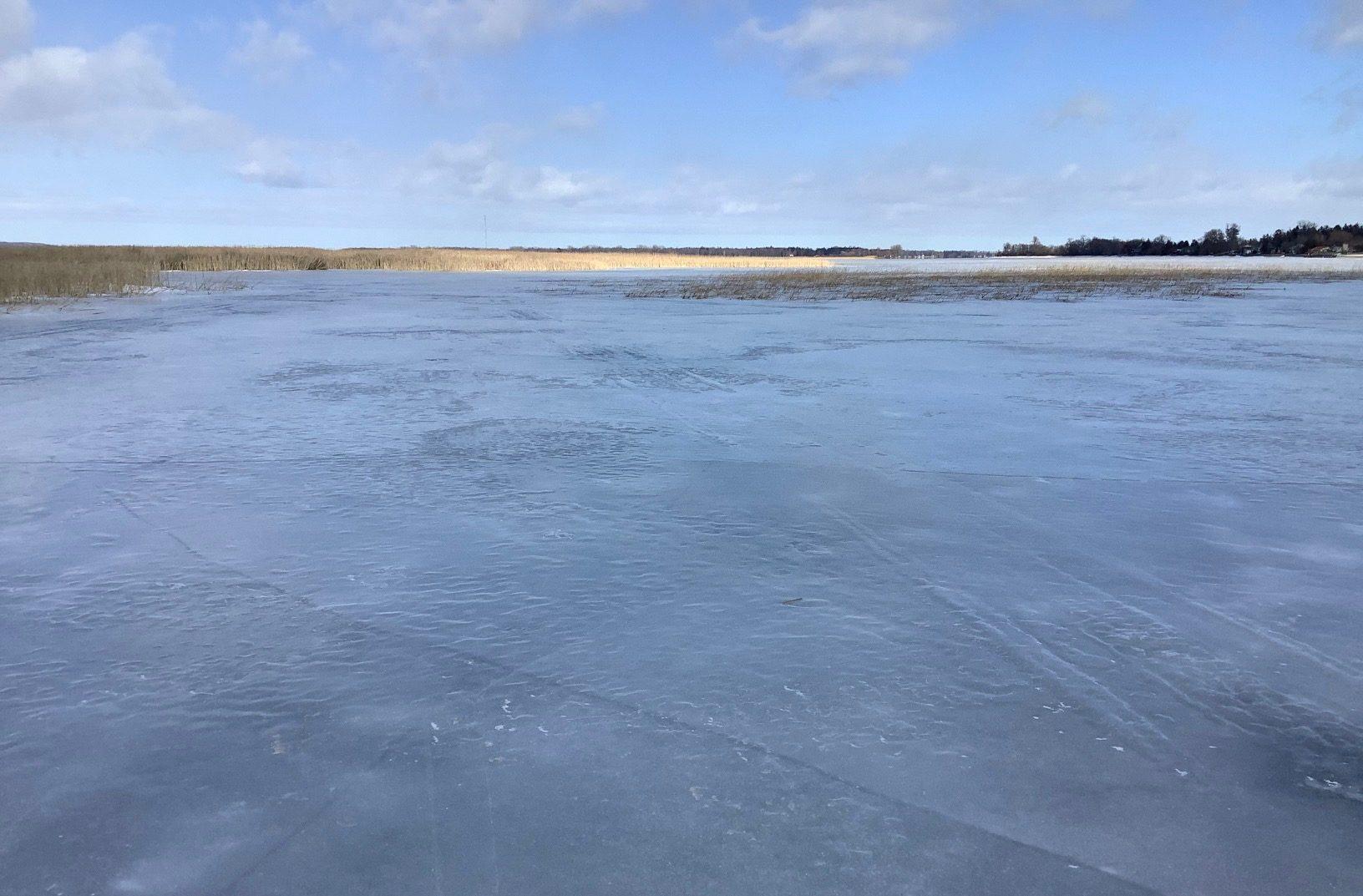 Frozen Presquile bay at Presquile Provincial Park